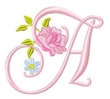 s alphabet in rose  Roses and Daisies Alphabet