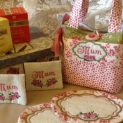 Tea time tote and mug rugs