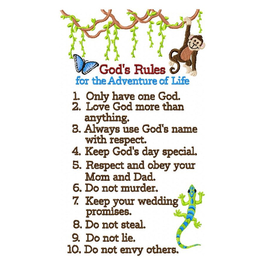 10 Commandments Printable For Kids | myideasbedroom.com
