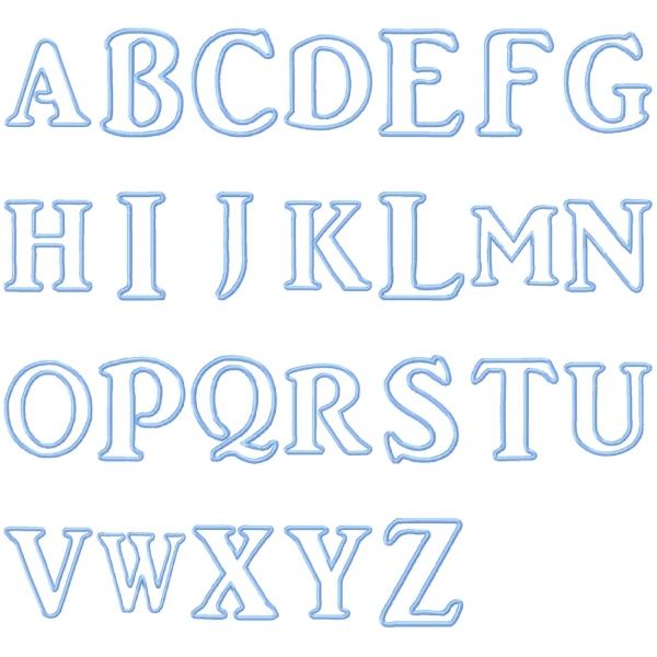 Kids Applique Alphabet | Oma's Place