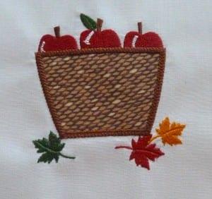 Applique Apple Basket