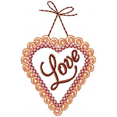 Applique Curly Heart