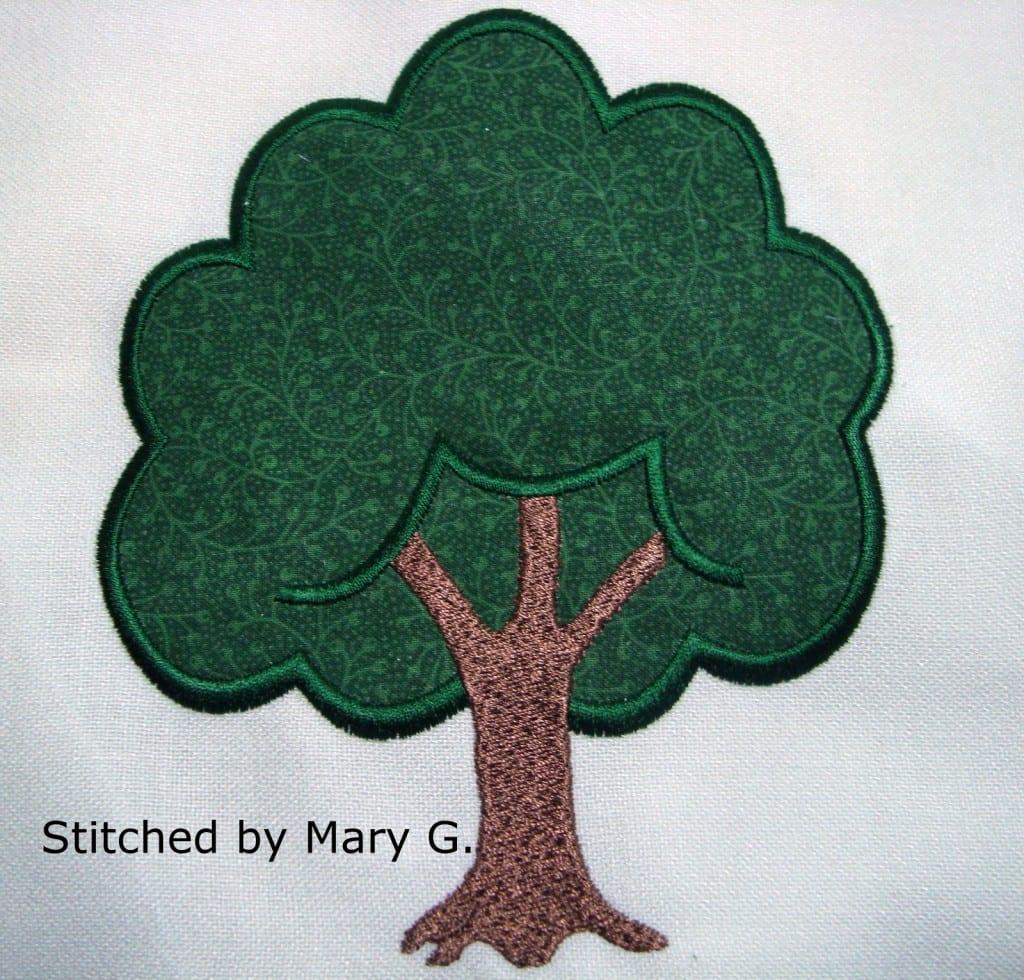 Image Gallery Tree Applique
