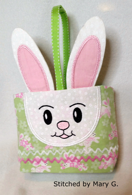 bunny gift bag for 6x10 hoops oma s place