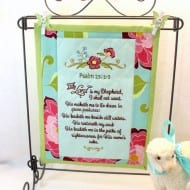 Psalm 23 Mini Quilt (7x12 hoops)