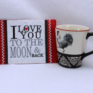 To The Moon Mug Rug