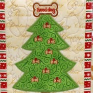 Applique Dog Christmas Tree (6x10)