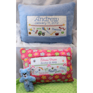 Boy & Girl Birth Pillow Samplers (Set)