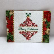 Split Christmas Ornament Mug Rugs
