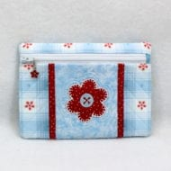 Zippered Applique Flower Bag (5x7)