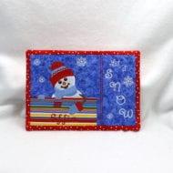 Snowman Snack Mat (7x11)