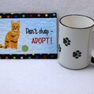 Cat Rescue Mug Rug