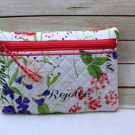 Quilted Zip Bag (5x7)