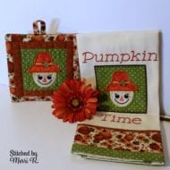 Lil' Scary Applique and Potholder Combo