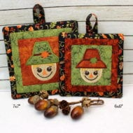 "Lil' Scary Potholders (6x6"" and 7x7"")"