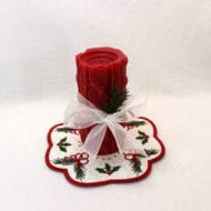 Christmas Candle Mat (7x7)