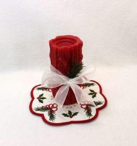Christmas Candle Mat (7×7)