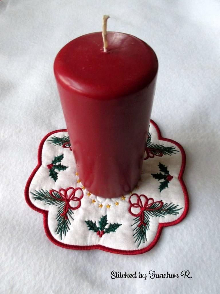 christmas candle mat 7x7 oma u0027s place