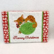 Christmas Kitty Mug Rug (5x7)
