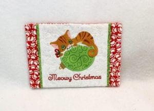 Christmas Kitty Mug Rug (5×7)
