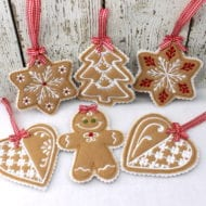 Christmas Cookie Ornaments Set 1 (4x4)