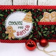 Santa Snack Mat (7x11)