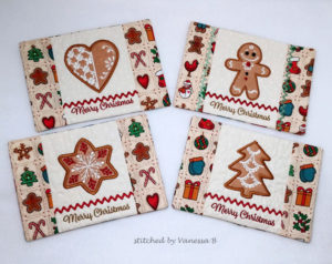 Christmas Cookies Mug Rug Set