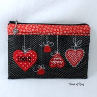 Heart Zippered Bag (6x10)