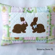 Bunnies Pillow (6x10)