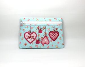 Heart Zippered Bag (5×7)