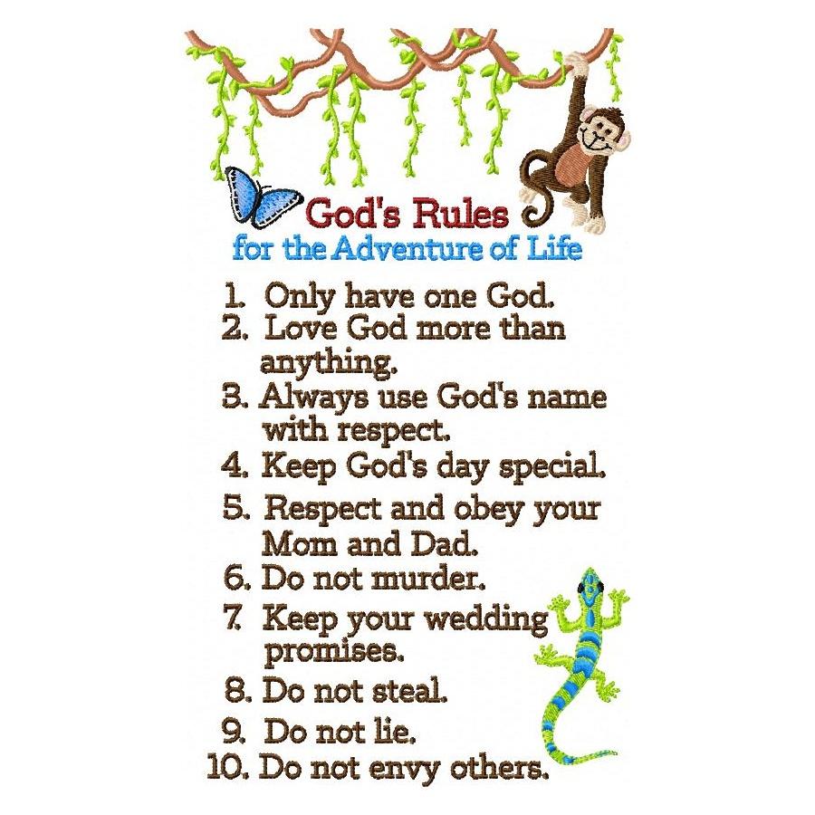 Ten Commandments Omas Place