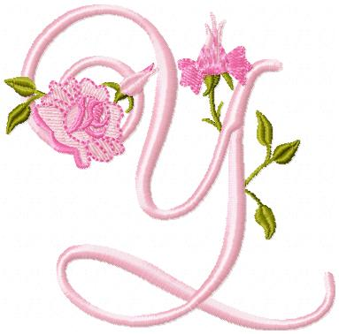 s alphabet in rose  roses and daisies alphabet $