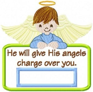 Angels Charge Applique Labels