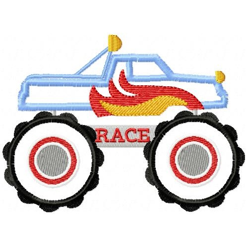 APPLIQUE MONSTER TRUCK EMBROIDERY DESIGNS - EMBROIDERY DESIGNS