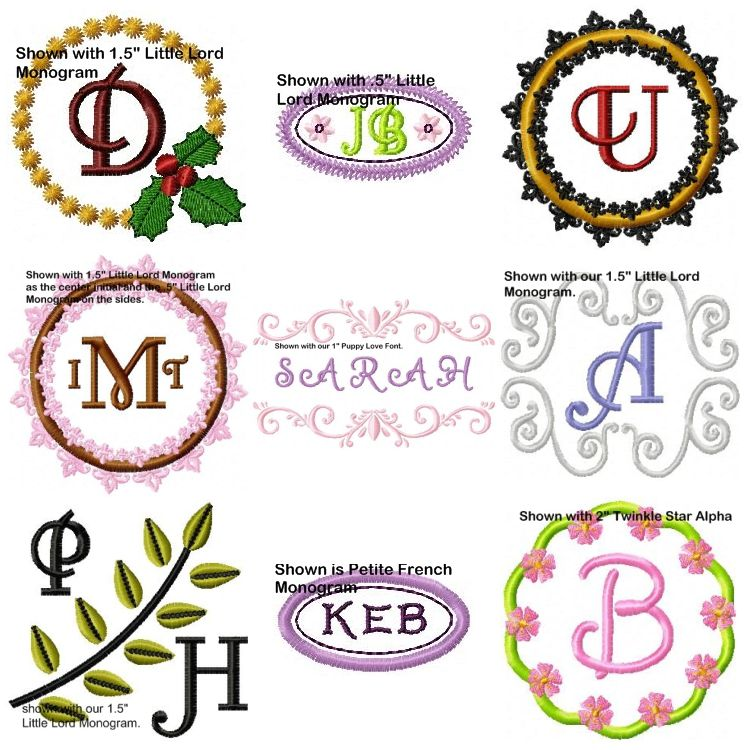 Assorted Monogram Frames - Oma\'s Place