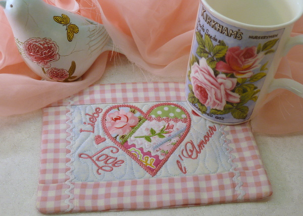 Crazy Patch Heart Mug Rug 5 7 Product Categories In The Hoop