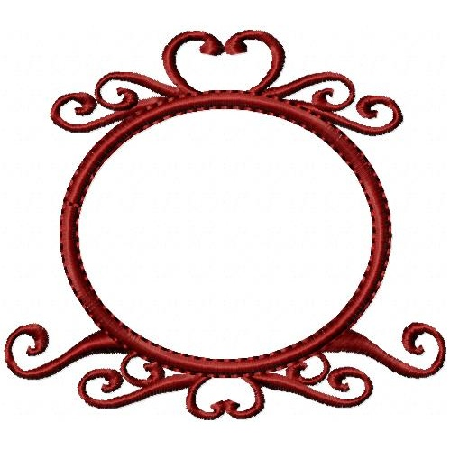 Heart Scroll Medallion - Oma's Place