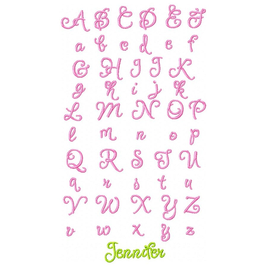 Cool Girly Fonts Alphabet Puppy love 1″ oma's place