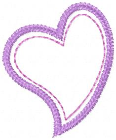 Applique Heart 4×4