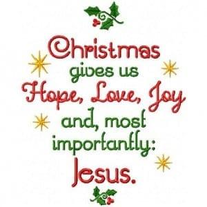 Hope, Love, Joy