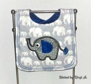 Elephant Bib ITH (8×12)