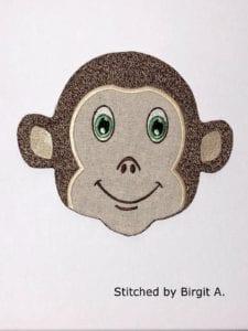 Monkey Snack Mat (7×11)