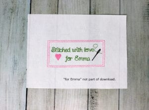 Stitched with Love (freebie)