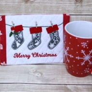Stockings Mug Rug (5x7)