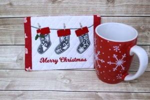Stockings Mug Rug (5×7)
