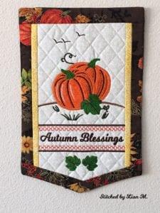 Autumn Blessing Banner (7×11)
