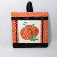 In the Hoop Pumpkin Pocket Potholder (7x7)