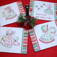 Christmas Bonnet Mug Rugs (5x7)