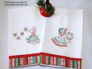 Set of 10 Christmas Bonnets (5×7)
