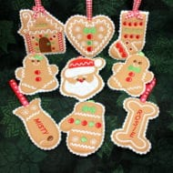Christmas Cookie Ornaments Set 2 (4x4)